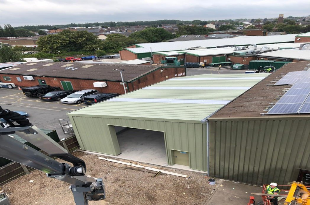 Coalville structural steel and cladding complete installation min