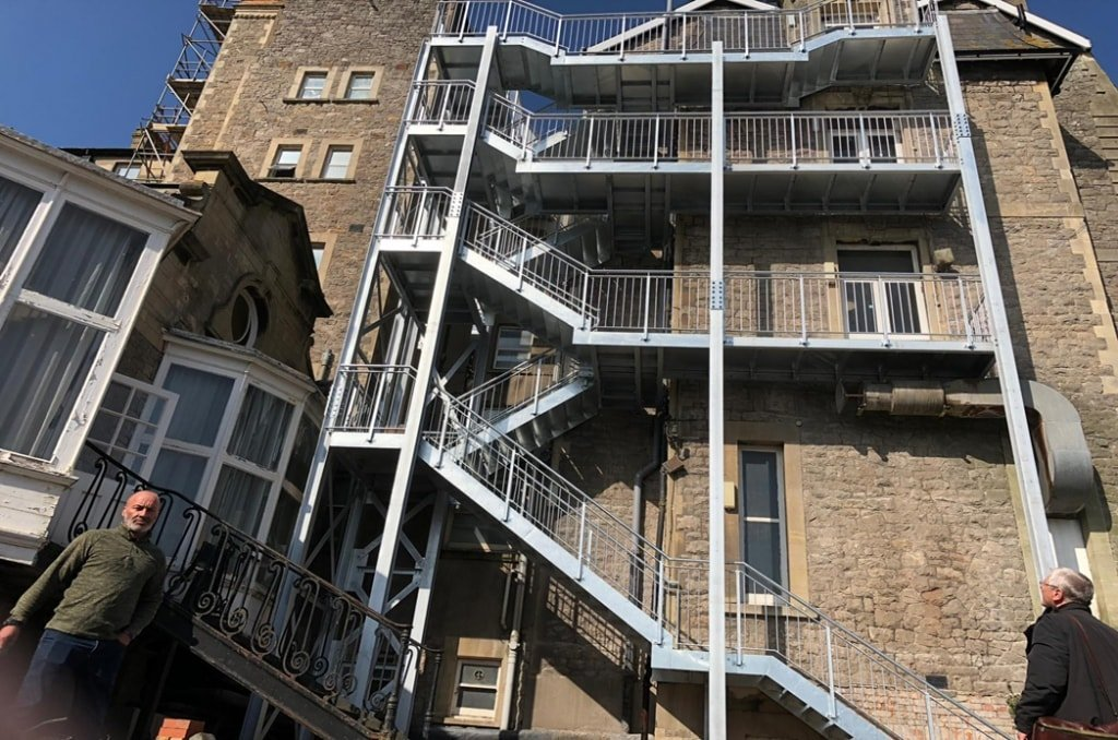 Fire Escape Stairs For Flats min