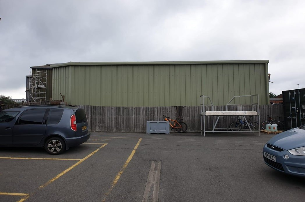 Side view of cladding installation min