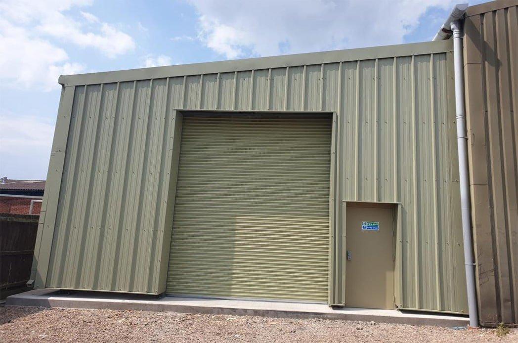 Steel roller shutter and steel door install min