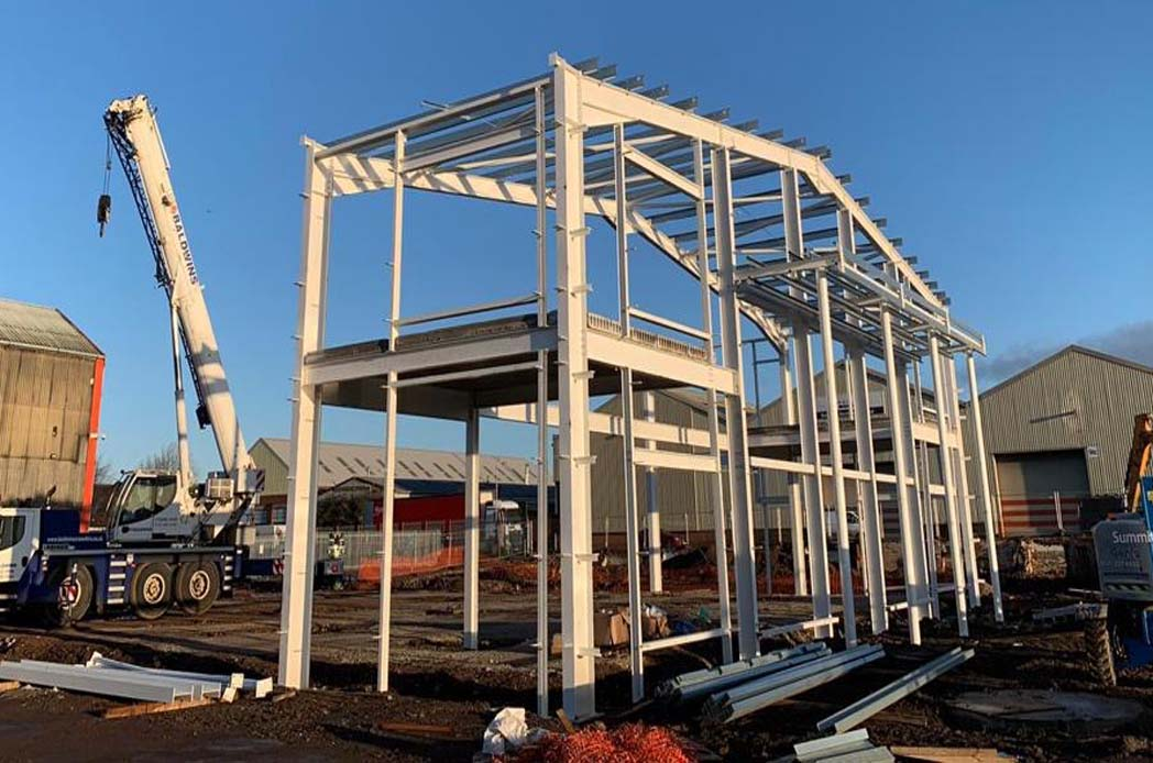 beginning of the build mercedes structure