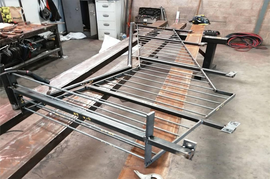 steel fire escape stairs railings