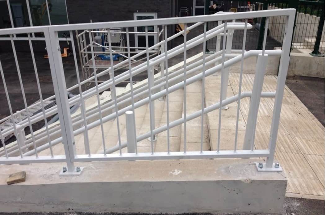 Abbey Mill Stair railing fabrication