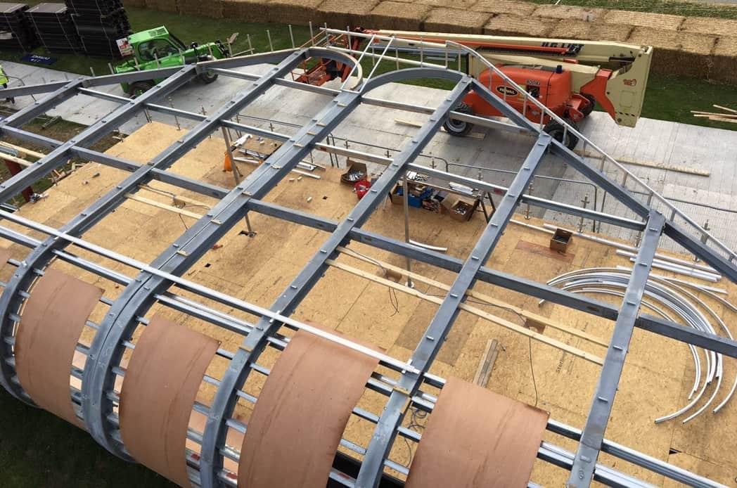 Audi steel erection in progress
