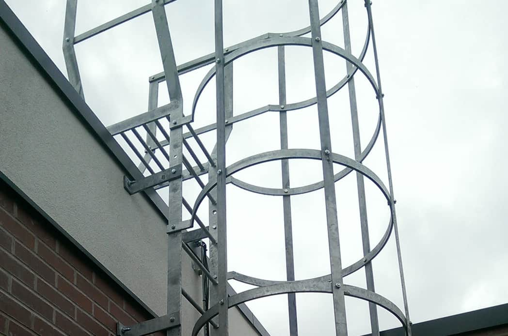 Circular fire escape stairs