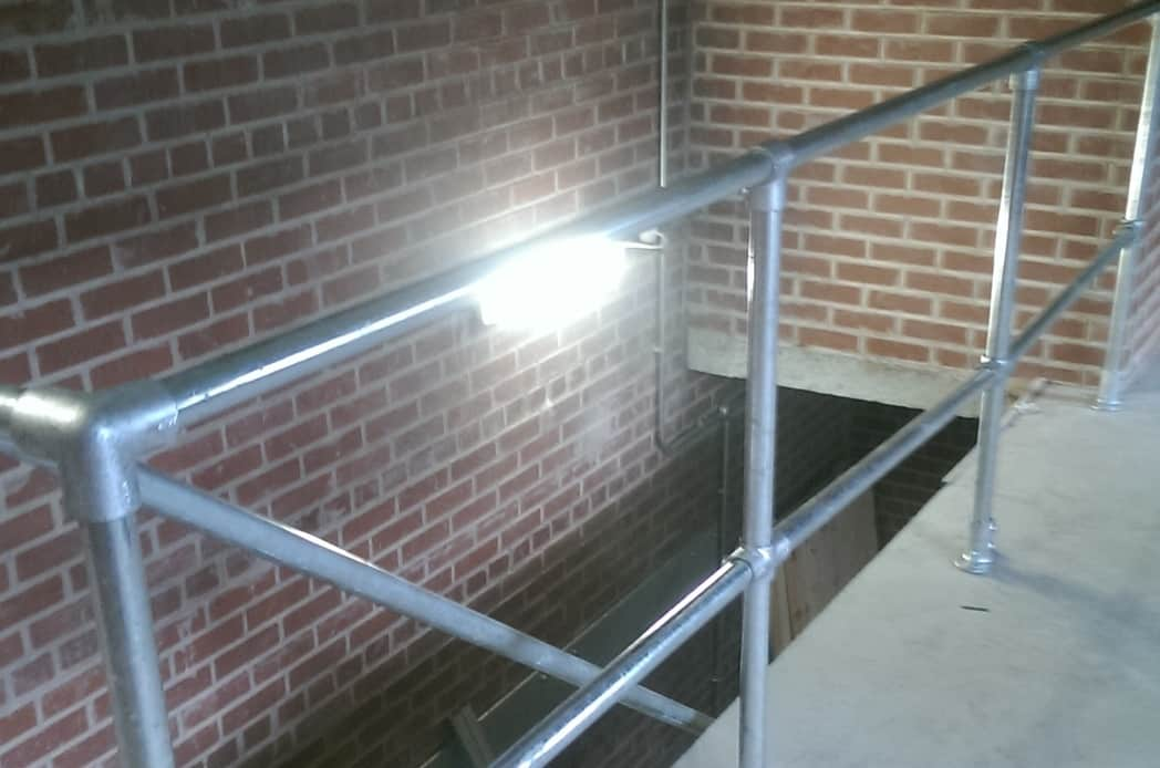Steel bannister fire escape