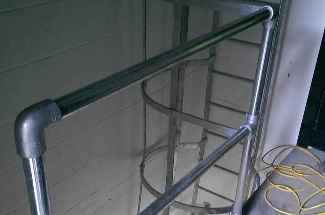 steel fire escape railings